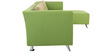 Adelia LHS Three Seater Sofa with Lounger in Pear Green Colour by CasaCraft