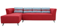 Adelia RHS Three Seater Sofa with Lounger in Crimson Red Colour by CasaCraft