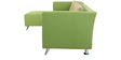 Adelia RHS Three Seater Sofa with Lounger in Pear Green Colour by CasaCraft