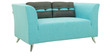 Adelia Two Seater Sofa in Celeste Blue Colour by CasaCraft