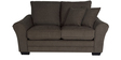 Adrian Two Seater Sofa with Throw Cushions in Umber Brown Colour by CasaCraft