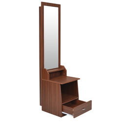 Adora Dressing Table in Walnut & Black Colour by Crystal Furnitech