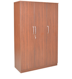 Adora Three Door Wardrobe in Sandy Sawline & Chocolate Colour by Crystal Furnitech