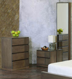 Adriano Chest Of Drawers in Belgian Oak Finish by CasaCraft