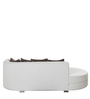 Addison Lounger Sofa in White Colour by Madesos