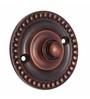 Adonai Hardware Brass 2.5 Inch Dotted Bell Push