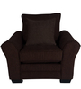Adrian One Seater Sofa with Throw Cushions in Java Brown Colour by CasaCraft