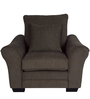 Adrian One Seater Sofa with Throw Cushions In Umber Brown Colour by CasaCraft