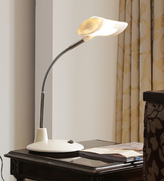 Aesthetics Home Solution Contemporary White Plastic Study Lamp