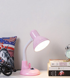 Aesthetics Home Solution Pink Plastic Study Lamp