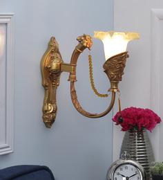 Aesthetics Home Solution Royal Golden Glass Wall Light