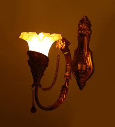 Aesthetics Home Solution Royal Golden Walllights With String Of Pearls