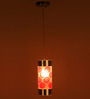 Manzanilla Ceiling Lamp in Red by CasaCraft