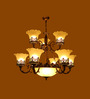 Barnet Chandelier in White by Amberville