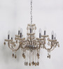 Bertoli Beige Glass Chandelier by Amberville