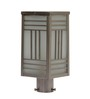 Aesthetics Home Solution Black Satin Finish Metal and Glass Gate Light