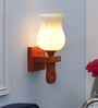 Amaranto Wall Light in White by CasaCraft