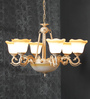 Amherst Chandelier in Brown & White by Amberville