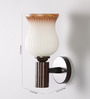 Angelino Wall Light in Brown & White by CasaCraft