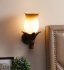 Andalusia Wall Light in Brown & White by CasaCraft