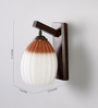 Belm Wall Light in Brown & White by CasaCraft