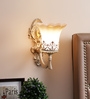 Acton Wall Light in Brown & White by Amberville