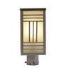 Aesthetics Home Solution Black Satin Finish Metal and Glass Gate Light