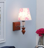 Adriano Wall Light in Pink & White by CasaCraft