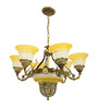 Barrington Chandelier in Gold by Amberville