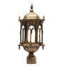 Aesthetics Home Solution Golden Royal Antique Metal and Glass Gate Light