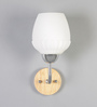 Amaia Wall Light in White by CasaCraft