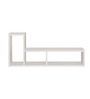 Afydecor White Ply Wood L-shaped Wall Shelf