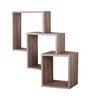 Afydecor Brown Ply Wood Intersecting Cubes Wall Shelf