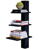 Afydecor Black Ply Wood 3 Spacious Shelves