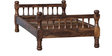 Agastya Single Size Bed in Provincial Teak Finish by Mudramark