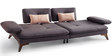 Agueda Two Seater Sofa in Grey Colour by CasaCraft