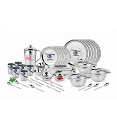 Airan Gold Stainless Steel Dinner Set of 51