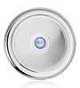 Airan Silver Stainless Steel Pearl Quarter Plate - Set of 6