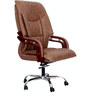 Ajax Executive High Back Chair in Brown Color By VJ Interior