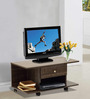 Akira Entertainment cum Coffee Table with One Drawer in Wenge Finish by Mintwud