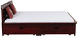 Illinois Queen Bed with Storage in Passion Mahogany Finish by Woodsworth