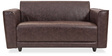 Alfred Two Seater Sofa in Brown Colour by Durian