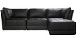Alia Deep Comfortable Modular Leatherette RHS Sectional Sofa in Black Colour by Furny