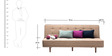 Alia L Shaped Comfortable Sofa Bed in Beige Colour by Furny