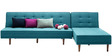 Alia L Shaped Comfortable Sofa Bed in Blue Colour by Furny