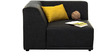 Alia Modular RHS Sofa Sectional (2 Corner + 1 + 1 Seater) in Black Colour by Furny