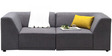 Alia Modular Two Seater Sofa (2 Corner Seater) in Grey Colour by Furny