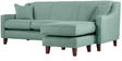 Alia Superb Flexible Two Seater Sofa with Lounger in Aqua Blue Colour by Furny