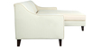 Alia Superb LHS Single Seater with Lounger in Cream Colour by Furny