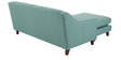Alia Superb LHS Single Seater with Lounger in Aqua Blue Colour by Furny